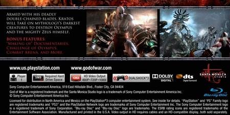 God of War III обратная обложка