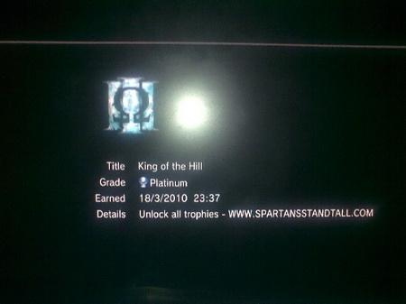платина в God of War III