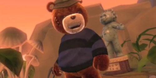 Naughty Bear в костюме Крюгера