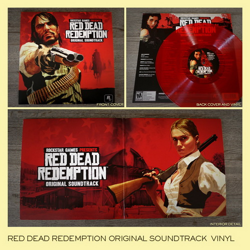 Red vinyl LP of Red Dead Redemption Soundtrack
