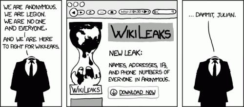 Anonymous wikileaks