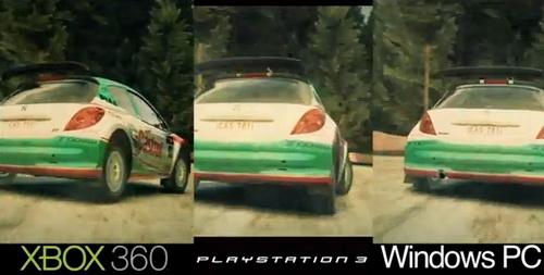 Сравнение графики в DiRT 3 на PS3, 360 и РС