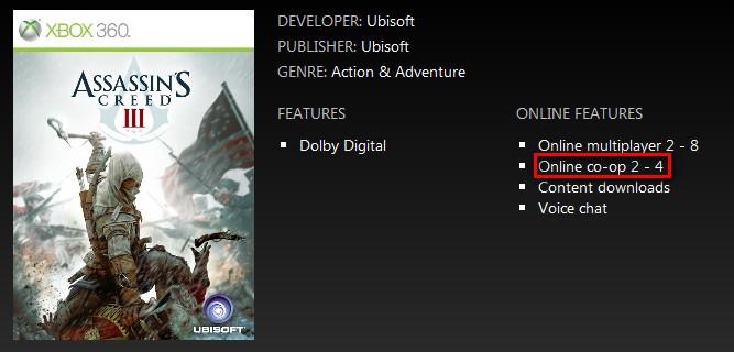 Assassins Creed 3 co-op