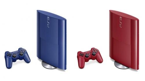 ps3 super slim blue red