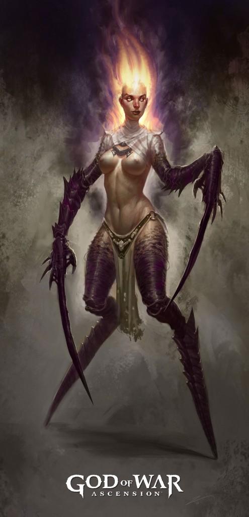 God of War Ascension New Enemy Concept Art Empusa