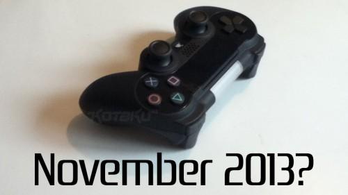 PS4 november 2013