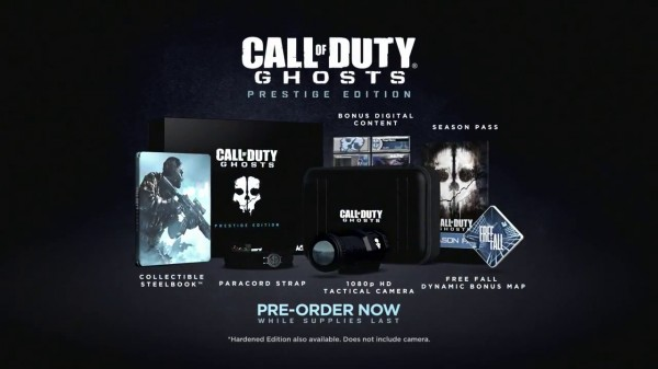 Call of Duty Ghosts Prestige and Hardened Editions