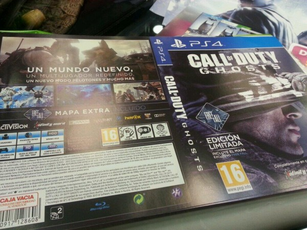 Call Of Duty Ghosts ps4 cover