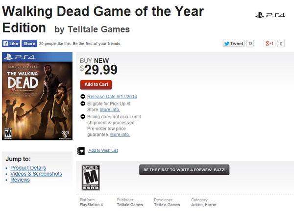 Walkind Dead PS4