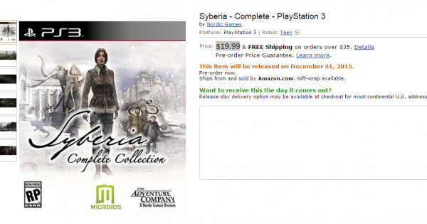 Syberia Complete Edition Amazon
