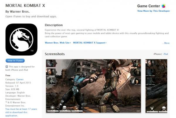 MORTAL KOMBAT X on the App Store