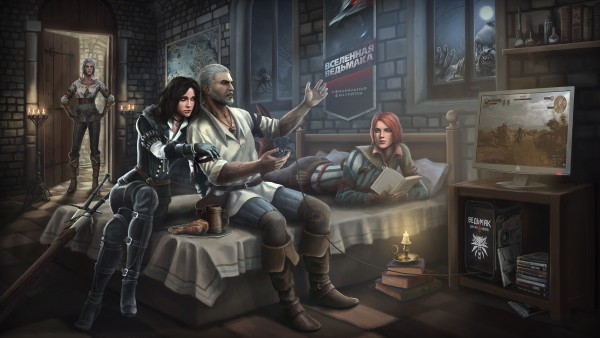 art-geralt-ciri-yennefer-triss