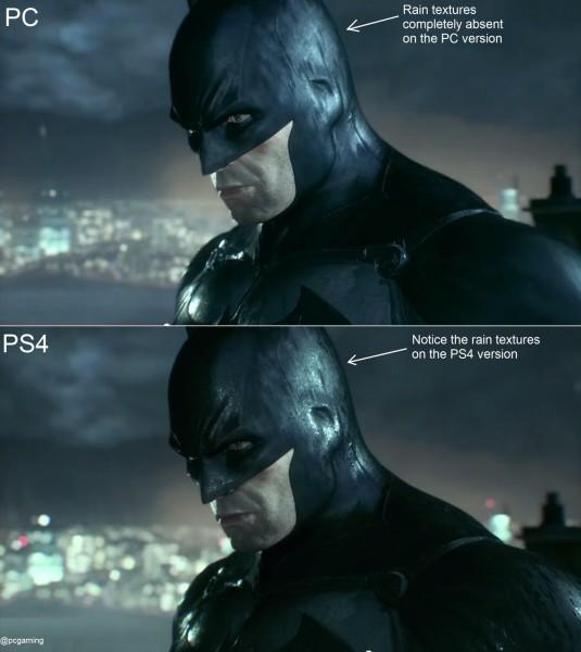 batman pc vs ps4