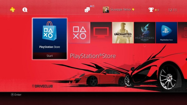 Driveclub PS4 Theme