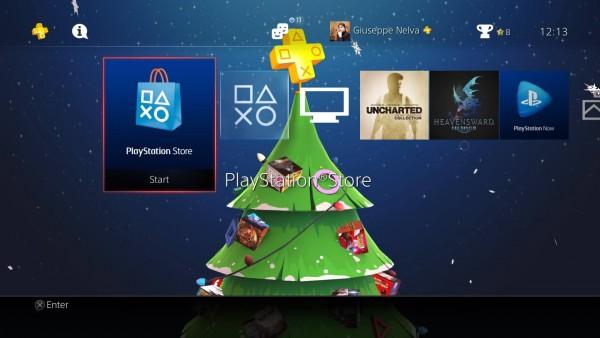 Festive PlayStation Plus Dynamic Theme