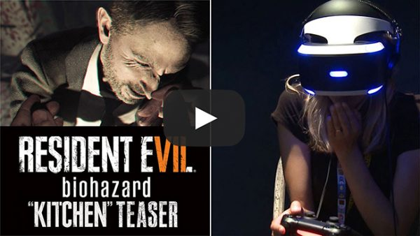 Resident Evil 7 'Kitchen' PSVR Teaser Gameplay Reactions