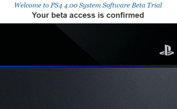 ps4 beta firmware
