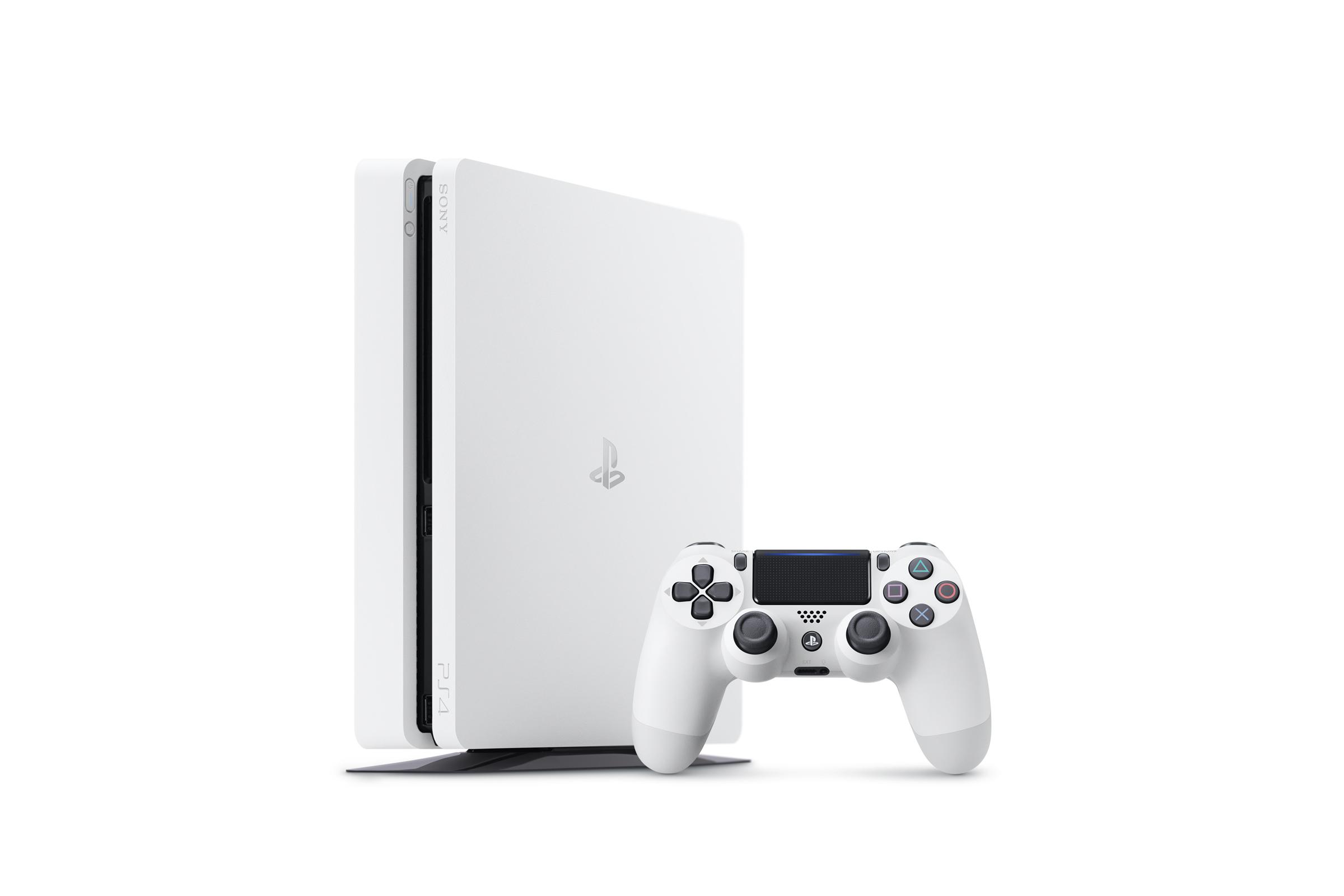 Консоль PlayStation 4 Slim будет продаваться в белом цвете
